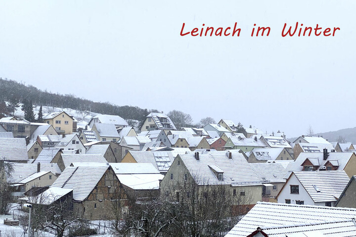 Leinach im Winter
